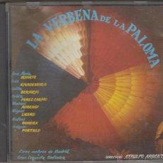 CDs de Música: LA VERBENA DE LA PALOMA CD COROS CANTORES DE MADRID ORQUESTA SINFÓNICA 1987 ATAULFO ARGENTA. Lote 52396284