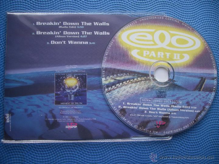 CDs de Música: ELECTRIC LIGHT ORCHESTRA BREAKIN´DOWN THE WALLS CD SINGLE GERMANY 1994 PDELUXE - Foto 2 - 52424858