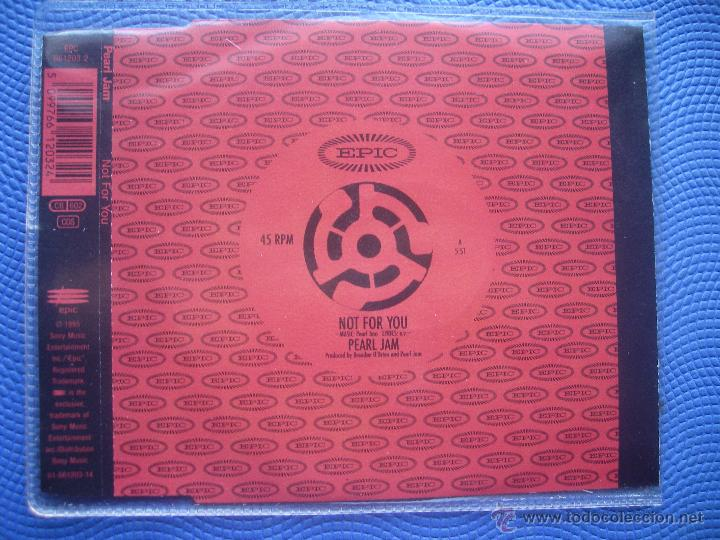 PEARL JAM NOT FOR YOU CD SINGLE AUSTRIA 1995 PDELUXE (Música - CD's Rock)