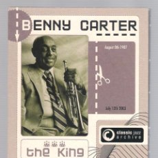 CDs de Música: BENNY CARTER - CLASSIC JAZZ ARCHIVE (2 CD + 20 PAGE BOOKLET, DIGIPACK). Lote 52448019