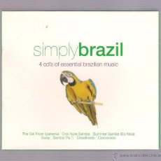CDs de Música: VARIOS - SIMPLY BRAZIL (CAJA 4 CDS OF ESSENTIAL BRAZILIAN MUSIC). Lote 52448587