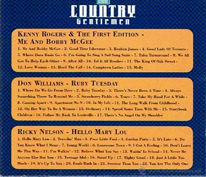 CDs de Música: CD COUNTRY GENTLEMEN (3 CD´S ) - Foto 3 - 52480939