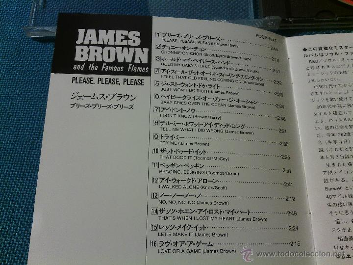 CDs de Música: CD JAMES BROWN AND THE FAMOUS FLAMES - PLEASE / Orig. Japan edition POCP-1847 / FUNK SOUL RARÍSIMO!! - Foto 4 - 52481133