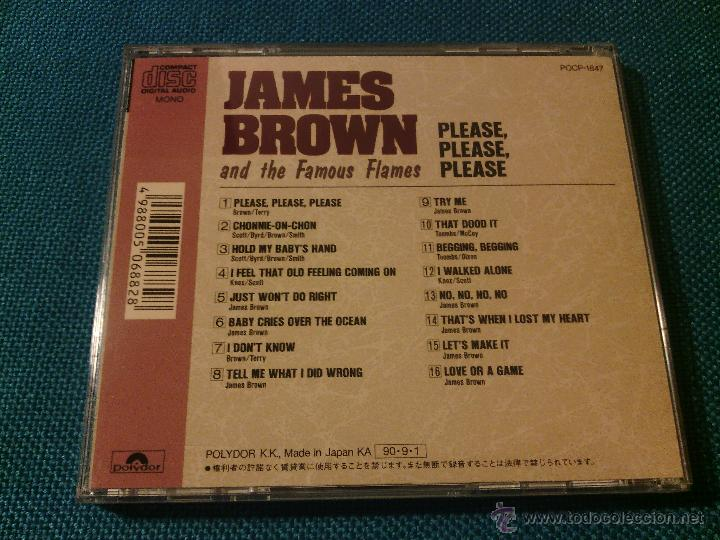 CDs de Música: CD JAMES BROWN AND THE FAMOUS FLAMES - PLEASE / Orig. Japan edition POCP-1847 / FUNK SOUL RARÍSIMO!! - Foto 5 - 52481133
