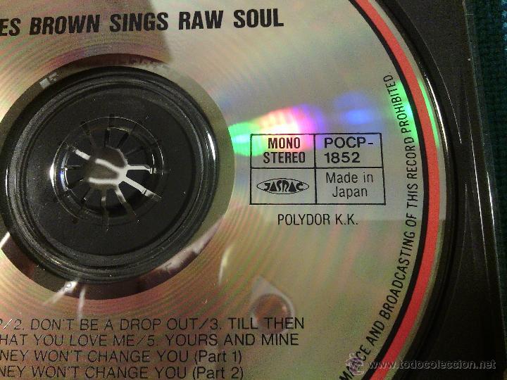 CDs de Música: CD JAMES BROWN SINGS - RAW SOUL / Orig. Japan edition POCP-1852 / FUNK SOUL RARÍSIMO!!!!!!!!!!!!!!!! - Foto 3 - 52481272