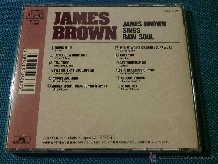 CDs de Música: CD JAMES BROWN SINGS - RAW SOUL / Orig. Japan edition POCP-1852 / FUNK SOUL RARÍSIMO!!!!!!!!!!!!!!!! - Foto 4 - 52481272