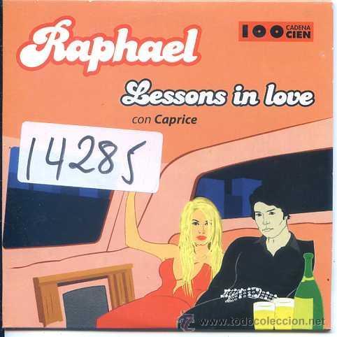 RAPHAEL CON CAPRICE / LESSONS IN LOVE (CD SINGLE CARTON PROMO 2001) (Música - CD's Pop)