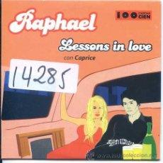 CDs de Música: RAPHAEL CON CAPRICE / LESSONS IN LOVE (CD SINGLE CARTON PROMO 2001). Lote 52484321