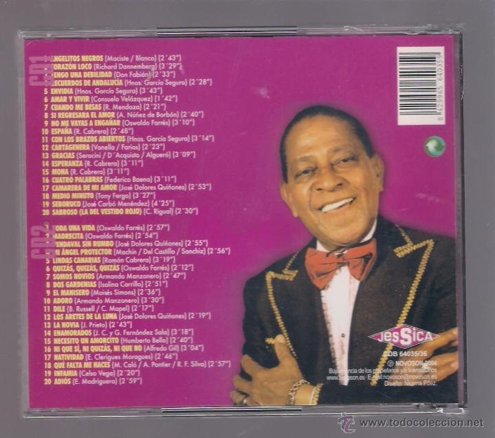 CDs de Música: ANTONIO MACHIN - Grandes 40 éxitos (2 CD 2004, Jessica CDB 64035/36) - Foto 2 - 52517399