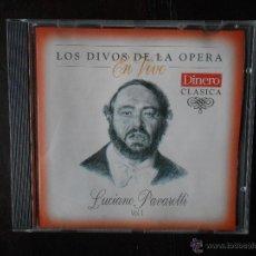 CDs de Música: CD LOS DIVOS DE LA OPERA EN VIVO - LUCIANO PAVAROTTI VOL. 1 (1J). Lote 52530068