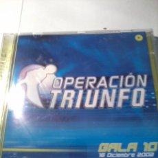 CDs de Música: CD. OPERACIÓN TRIUNFO GALA 10. DICIEMBRE 2002. MB1CD. Lote 52573436