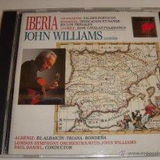 CDs de Música: IBERIA / JOHN WILLIAMS (GUITAR) / GRANADOS / RODRIGO / LLOBET / ALBÉNIZ / SONY CLASSICAL / CD. Lote 52632759