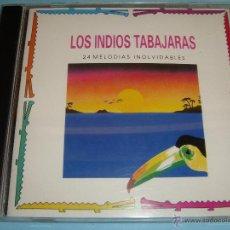 CDs de Música: LOS INDIOS TABAJARAS / 24 MELODÍAS INOLVIDABLES / CD. Lote 52632951