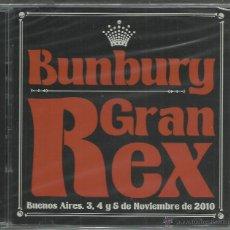 CDs de Música: BUNBURY - GRAN REX - BUENOS AIRES 2010 - CD DOBLE PARLOPHONE 2011 NUEVO. Lote 52656817