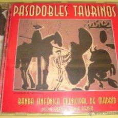 CDs de Música: PASODOBLES TAURINOS / BANDA SINFÓNICA MUNICIPAL DE MADRID / PORTADA: CUADRO PABLO RUIZ PICASSO / CD. Lote 52657122