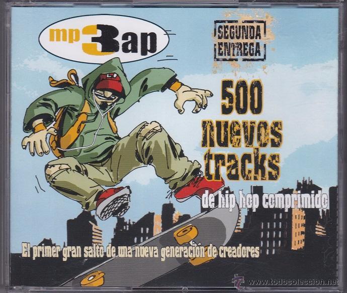 MP3 RAP - SEGUNDA ENTREGA, 500 CANCIONES - 3 CDS (Música - CD's Hip