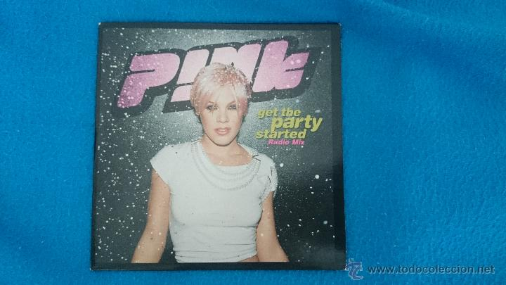 CD PROMO RARO PINK GET THE PARTY STARTED (Música - CD's Pop)