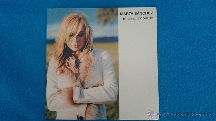 CD PROMO RARO MARTA SANCHEZ AMOR COBARDE (Música - CD's Pop)