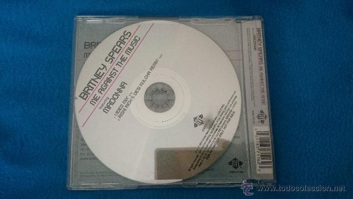 CDs de Música: CD SINGLE PROMO RADIO RARO BRITNEY MADONNA ME AGAINST THE MUSIC - Foto 2 - 52781463