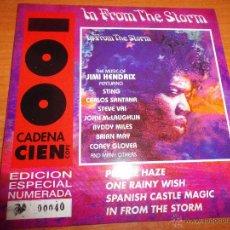 JIMI HENDRIX In from the storm BRIAN MAY QUEEN SANTANA CD SINGLE PROMO CADENA 100 Nº040 SUPER RARO