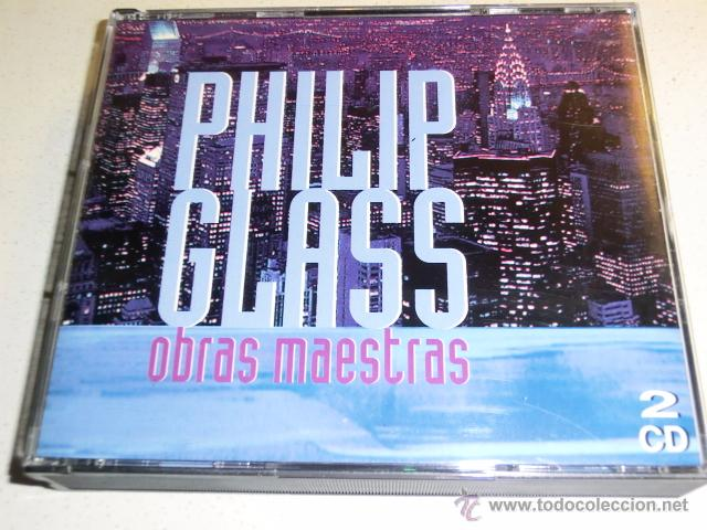 DOBLE CD - PHILIP GLASS - OBRAS MAESTRAS - 10 + 12 TEMAS (Música - CD's New age)