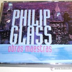 CD de Música: DOBLE CD - PHILIP GLASS - OBRAS MAESTRAS - 10 + 12 TEMAS. Lote 52823590