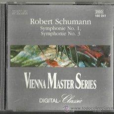 CDs de Música: ROBERT SCHUMANN: SYMPHONIE Nº 1 Y Nº 3 / VIENA MASTER SERIES - PHILHARMONIA SLAVONICA, 1991. Lote 52851057