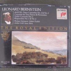 CDs de Música: BARTOK--DOBLE CD SONY-PIANO VIOLIN CONCERTOS ISAAC STERN--RAPSODIES--2 CD. Lote 52855600