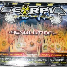 CDs de Música: SCORPIA CENTRAL DEL SONIDO - REVOLUTION - DJ SHRYKER STUNNED GUYS DJ BORR-X 3 CD TEMPO MUSIC - MINT. Lote 52862304