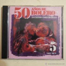 CDs de Música: 50 AÑOS DE BOLERO VOLUMEN 5 - 20 ÉXITOS INOLVIDABLES - CD 1998. Lote 52888712