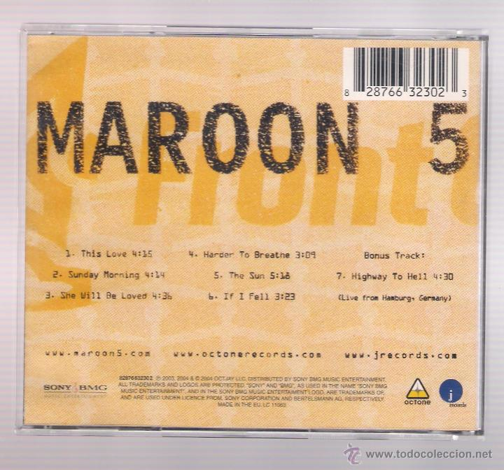 cd maroon 5 1.22.03 acoustic