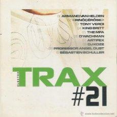CDs de Música: TRAX 21: ARMAND VAN HELDEN, RINOÇERÔSE, TONY VERDI, KING BRITT, THE MFA, D`WACHMAN.... Lote 52959168