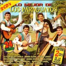 CDs de Música: DOBLE CD ÁLBUM: LOS PARAGUAYOS - LO MEJOR DE LOS PARAGUAYOS - 24 TRACKS - EMSA-EKIPO 1998. Lote 52998110