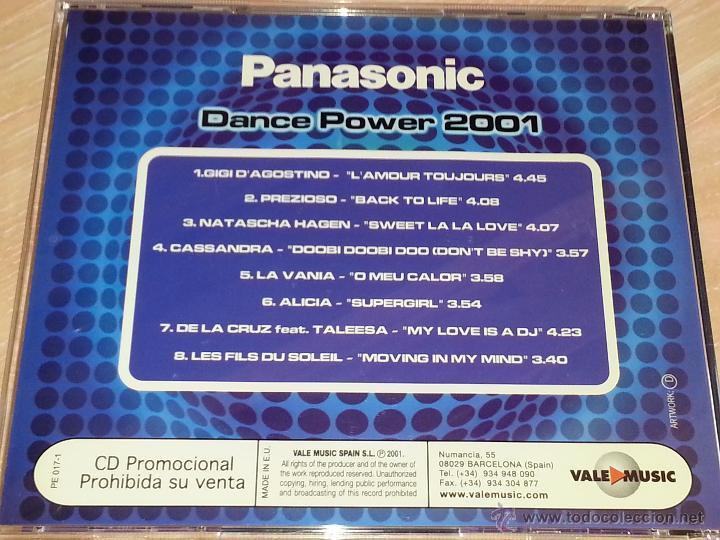 CDs de Música: PANASONIC DANCE POWER 2001 - 2001 - VALE MUSIC - CD ALBUM - Foto 3 - 53026203