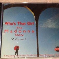 CDs de Música: WHO'S THAT GIRL. THE MADONNA STORY - VOLUME 1 - 16 TEMAS INSTRUMENTALES - MIRAGE - CD ALBUM. Lote 53027190