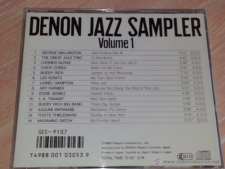 CDs de Música: DENON JAZZ SAMPLER VOLUME 1 - NIPPON COLUMBIA JAPÓN -1986 - CD ALBUM - RARO CD - Foto 3 - 53027265