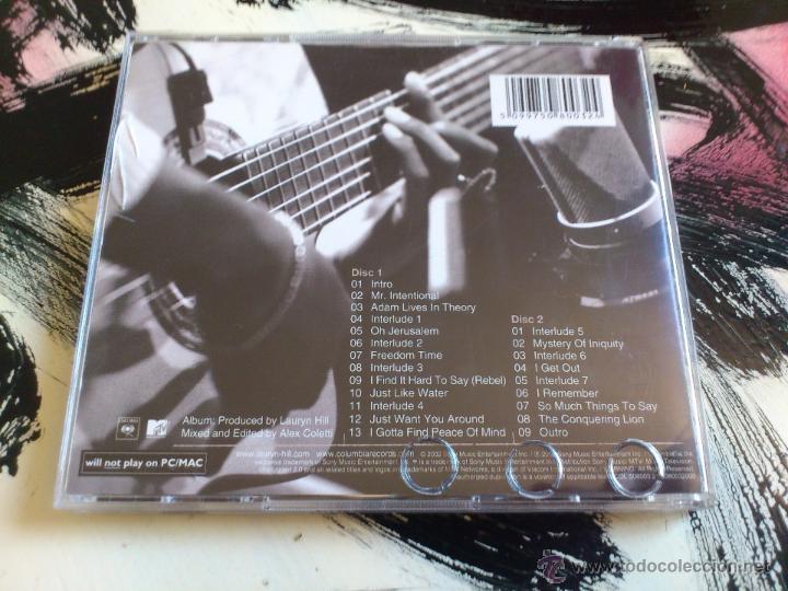 CDs de Música: LAURYN HILL - UNPLUGGED MTV - DOBLE CD ALBUM - SONY - 2002 - FUGEES - Foto 2 - 53036266