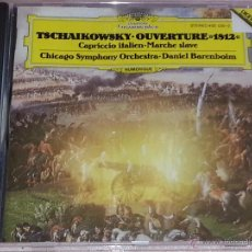 CDs de Música: TSCHAIKOWSKY - OUVERTURE 1812-CAPRICCIO ITALIEN-MARCHE SLAVE-DANIEL BARENBOIM-DEUTSCHE GRAMMOPHON-CD. Lote 53044242