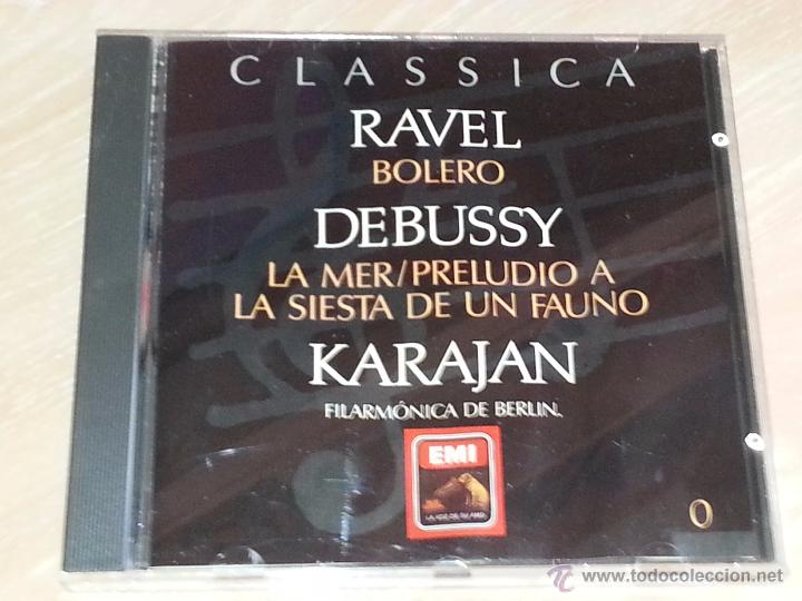 RAVEL (BOLERO) - DEBUSSY (LA MER) - KARAJAN - FILARMONICA DE BERLIN - CLASSICA ORBIS-FABBRI - CD (Música - CD's Clásica, Ópera, Zarzuela y Marchas)