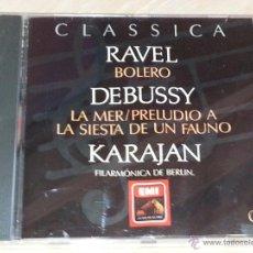 CDs de Música: RAVEL (BOLERO) - DEBUSSY (LA MER) - KARAJAN - FILARMONICA DE BERLIN - CLASSICA ORBIS-FABBRI - CD. Lote 53044741