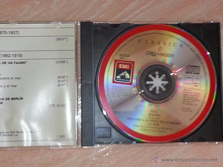 CDs de Música: RAVEL (BOLERO) - DEBUSSY (LA MER) - KARAJAN - FILARMONICA DE BERLIN - CLASSICA ORBIS-FABBRI - CD - Foto 2 - 53044741