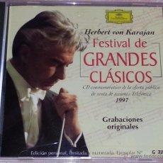 CDs de Música: HERBERT VON KARAJAN - FESTIVAL DE GRANDES CLASICOS - EDICIÓN LIMITADA Y NUMERADA - TELEFÓNICA - CD. Lote 53044836
