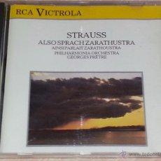 CDs de Música: STRAUSS - ALSO SPRACH ZARATHUSTRA / ASÍ HABLÓ ZARATHUSTRA - RCA VICTROLA - 1984 - GEORGES PRETRE -CD. Lote 53044905