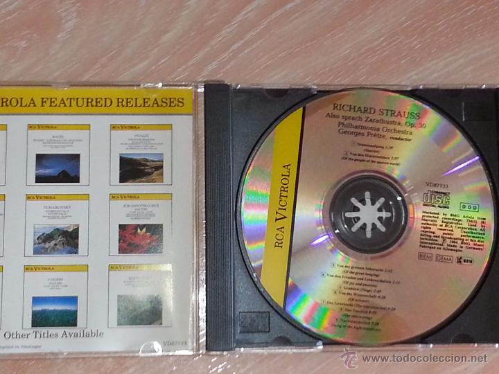 CDs de Música: STRAUSS - ALSO SPRACH ZARATHUSTRA / ASÍ HABLÓ ZARATHUSTRA - RCA VICTROLA - 1984 - GEORGES PRETRE -CD - Foto 2 - 53044905