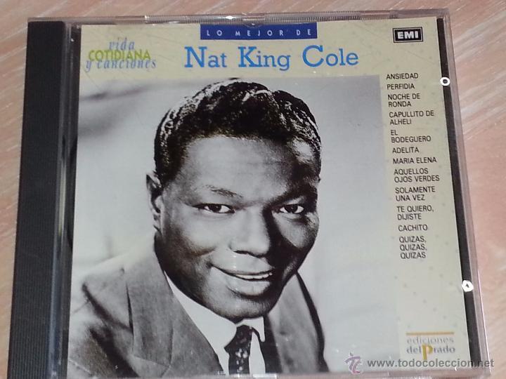 LO MEJOR DE NAT KING COLE - VIDA COTIDIANA Y CANCIONES - DEL PRADO - 1990 - CD ALBUM (Música - CD's Melódica )