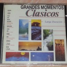 CDs de Música: GRANDES MOMENTOS CLÁSICOS - CBS RECORDS - 1990 - SELECCIÓN OBRAS MAESTRAS MÚSICA CLÁSICA - CD. Lote 53045872