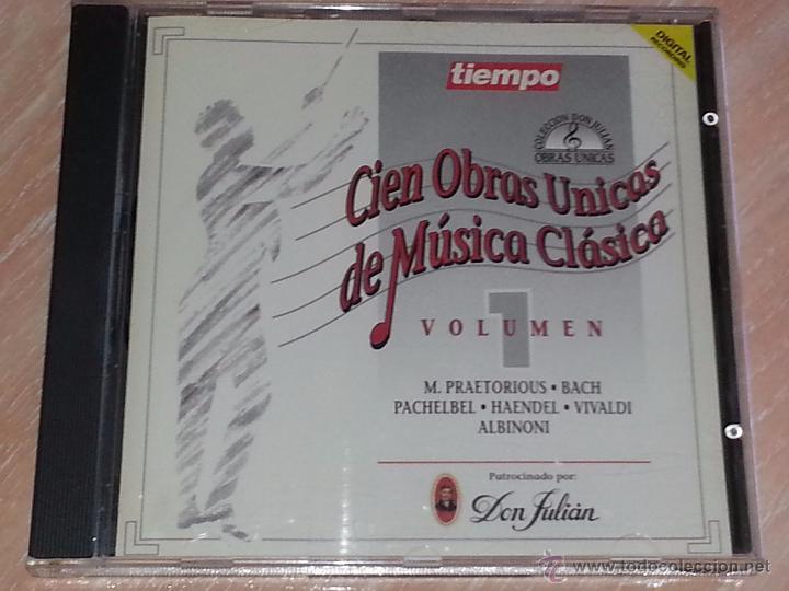 CIEN OBRAS ÚNICAS DE MÚSICA CLÁSICA - VOLUMEN 1 - REVISTA TIEMPO / IBERMEMORY - 1992 - CD ALBUM (Música - CD's Clásica, Ópera, Zarzuela y Marchas)