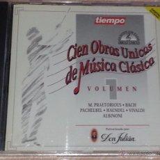 CDs de Música: CIEN OBRAS ÚNICAS DE MÚSICA CLÁSICA - VOLUMEN 1 - REVISTA TIEMPO / IBERMEMORY - 1992 - CD ALBUM. Lote 53045915