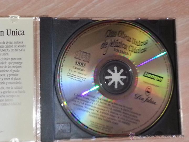 CDs de Música: CIEN OBRAS ÚNICAS DE MÚSICA CLÁSICA - VOLUMEN 1 - REVISTA TIEMPO / IBERMEMORY - 1992 - CD ALBUM - Foto 2 - 53045915