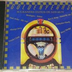 CDs de Música: GOLDENYEARS - 16 GRANDES ÉXITOS DE LOS 60-70 -(MODUGNO, PAUL ANKA, MUNGO JERRY, PETULA CLARK...) CD. Lote 53047477